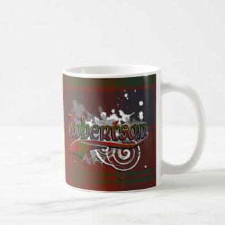 グランジなRobertsonのタータンチェック コーヒーマグカップ