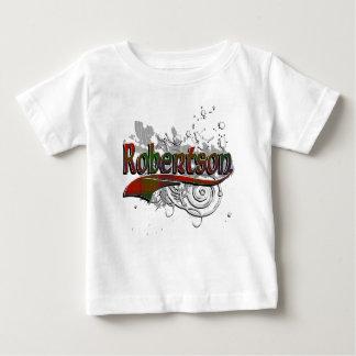 グランジなRobertsonのタータンチェック ベビーTシャツ