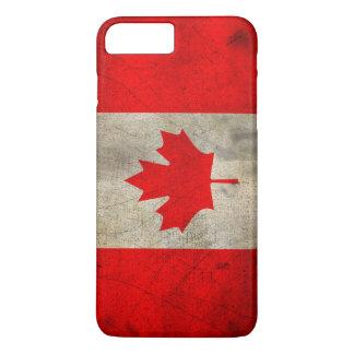グランジのカナダの旗 iPhone 8 PLUS/7 PLUSケース