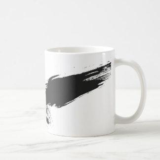 、グランジの鳥、タカ、ワタリガラス、カラス、illustrati黒い コーヒーマグカップ