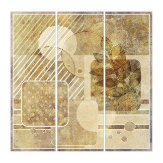 グランジ。 ヴィンテージ。 抽象的なイラストレーション トリプティカ
