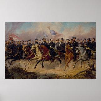 グラントおよび彼の大将の絵を描くこと ポスター