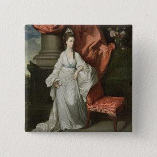 グラントののジェームスグラント、Bt妻女性。、1770-80年 5.1cm 正方形バッジ