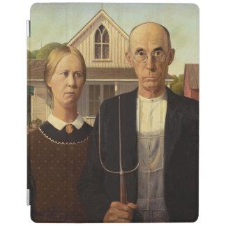 グラント・ウッドのアメリカのゴシック様式ファインアートの絵画 iPadスマートカバー