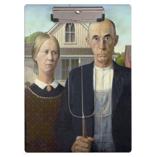 グラント・ウッド著アメリカのゴシック様式絵画 クリップボード