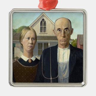 グラント・ウッド著アメリカのゴシック様式絵画 メタルオーナメント