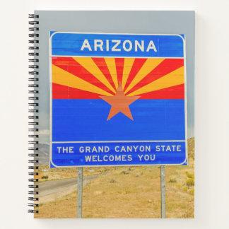 グランドキャニオンのアリゾナ州への歓迎 ノートブック