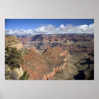 グランドキャニオンの南縁の眺め、アリゾナ、 ポスター