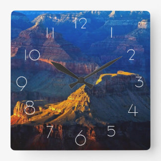 グランドキャニオンの南縁 スクエア壁時計