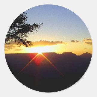 グランドキャニオンの夜明け ラウンドシール