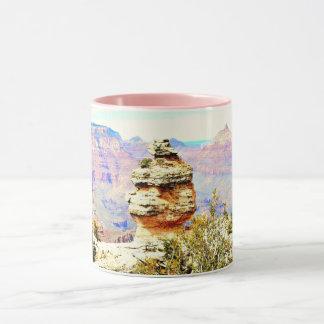 グランドキャニオンの石のコンボのマグ マグカップ