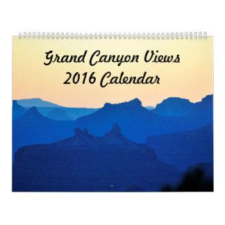 グランドキャニオンは2016カレンダーを見ます カレンダー