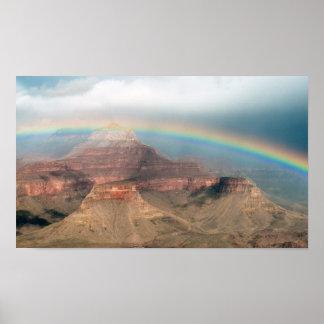 グランドキャニオン上の虹 ポスター