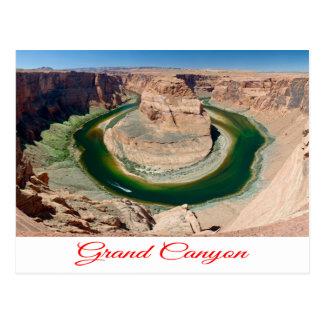 グランドキャニオン、蹄鉄のくねり、アリゾナの郵便はがき ポストカード