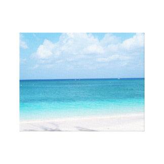 グランドケイマンの島のビーチ及び海のキャンバス キャンバスプリント