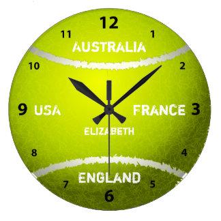 グランドスラムのテニス・ボールの時計 ラージ壁時計
