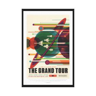 グランドツアーのレトロNASA旅行ポスターキャンバスプリント キャンバスプリント