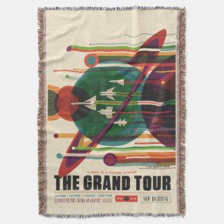 グランドツアーのレトロNASA旅行ポスターブランケット スローブランケット