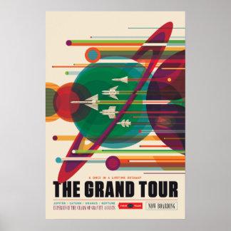 グランドツアーの宇宙旅行ポスター プリント