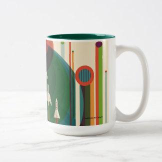 グランドツアー-レトロNASA旅行ポスターツートーンマグ ツートーンマグカップ