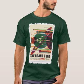グランドツアー-レトロNASA旅行ポスターワイシャツ Tシャツ
