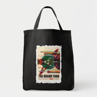 グランドツアー-レトロNASA旅行ポスター市場の戦闘状況表示板 トートバッグ