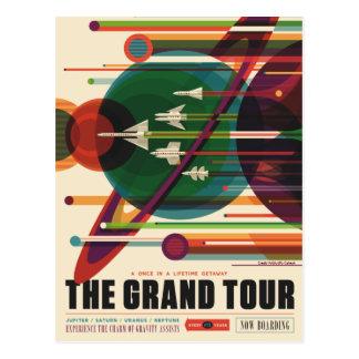 グランドツアー-レトロNASA旅行ポスター郵便はがき ポストカード