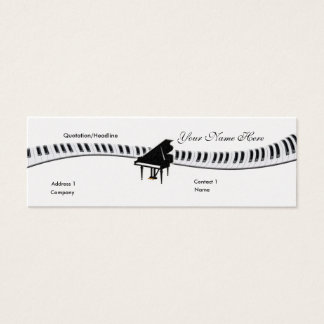 グランドピアノおよびキーボードの名刺 スキニー名刺