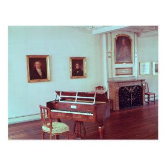 グランドピアノが付いている部屋の眺め ポストカード