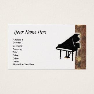 グランドピアノの名刺 名刺