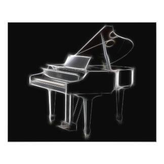 グランドピアノの音楽的なクラシカルな楽器 チラシ