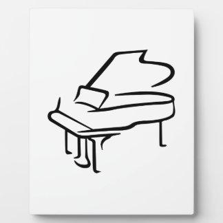 グランドピアノ フォトプラーク