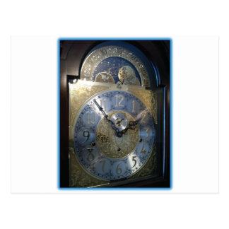 グランドファーザー時計の顔 ポストカード