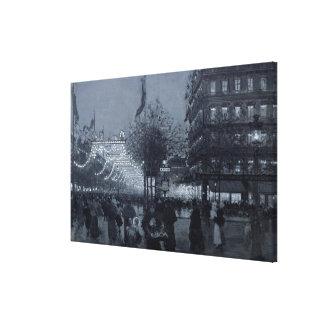 グランド通り、パリ キャンバスプリント