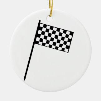 グランプリの旗 セラミックオーナメント