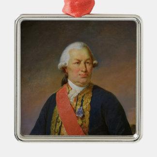 グラース1842年のFrancoisヨセフポールの計算 シルバーカラー正方形オーナメント