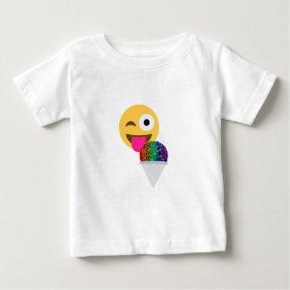 グリッターのまばたきのemoji ベビーTシャツ