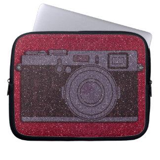 グリッターのカメラ ラップトップスリーブ