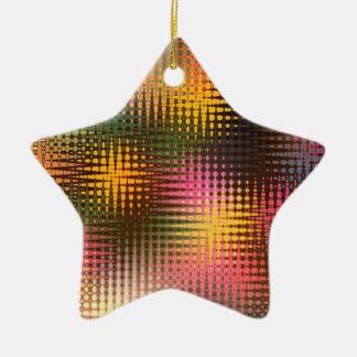 グリッターのクリスマスの照明 セラミックオーナメント