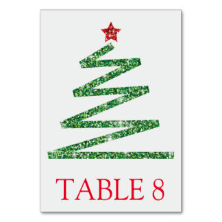 グリッターのクリスマスツリー カード