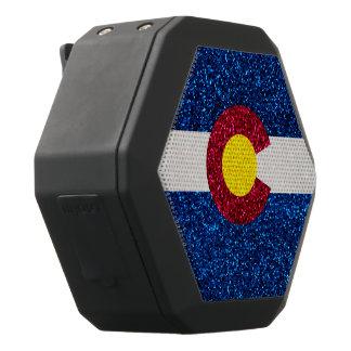 グリッターのコロラド州の旗のBoombotのレックスはスピーカーで切ます ブラックBluetoothスピーカー