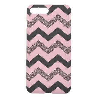 グリッターのシェブロンのピンクのiPhone Clearly™の8/7のプラスの場合 iPhone 8 Plus/7 Plus ケース