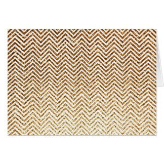 グリッターのシェブロンクールな金パターン カード