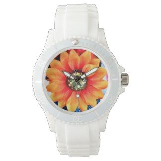 グリッターのヒマワリ 腕時計