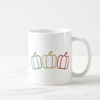 グリッターのピーマン コーヒーマグカップ