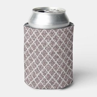 グリッターの効果の銀色のプラムクローバー 缶クーラー