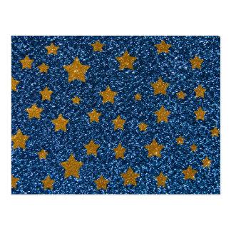グリッターの夜空 ポストカード