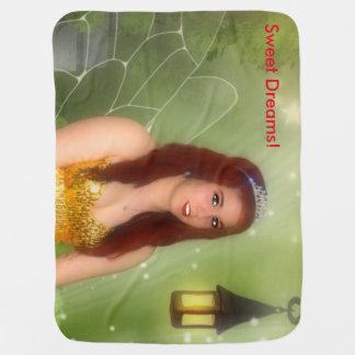 グリッターの妖精 ベビー ブランケット