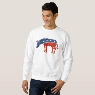 グリッターの民主主義者のろばメンズスエットシャツ スウェットシャツ