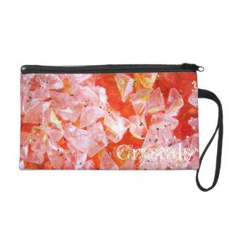 グリッターの水晶のコレクションのリストレットのバッグ リストレット